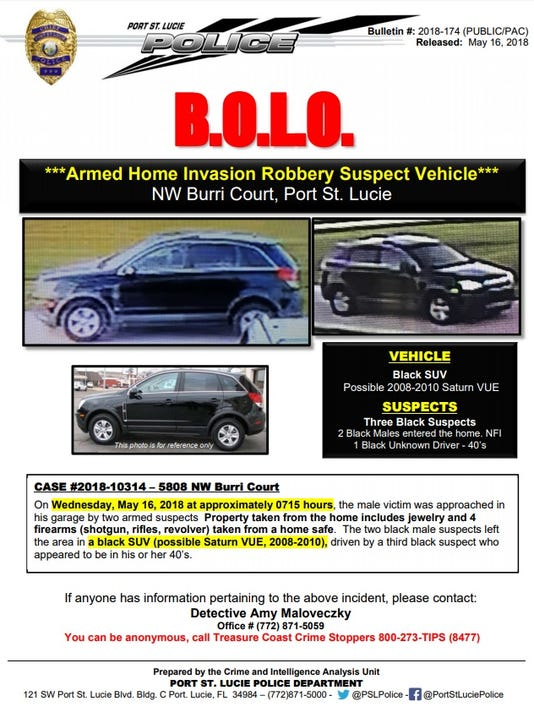 Port St. Lucie Police crime bulletin