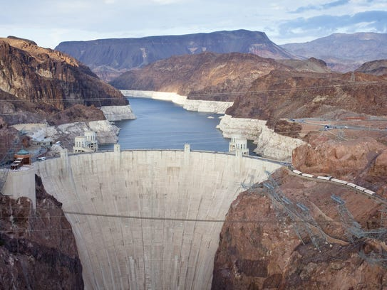 The Hoover Dam, originally known as Boulder Dam, was