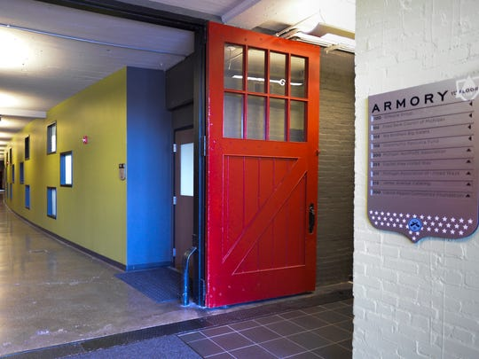 The original stable doors remain in use at the renovated Marshall Street Armory on Marshall Street in Lansing.