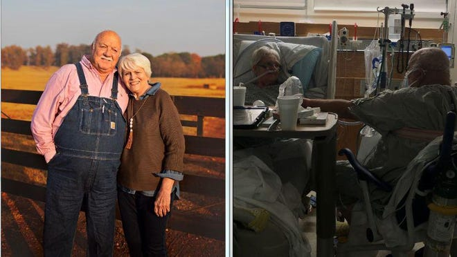Dewey and Lynda Baker recently celebrated their 55th wedding anniversary at Piedmont Athens Regional, where they are both patients diagnosed with COVID-19.