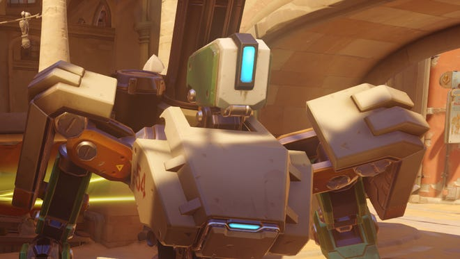 """Bastion, one of several playable characters in the game """"Overwatch."""""""