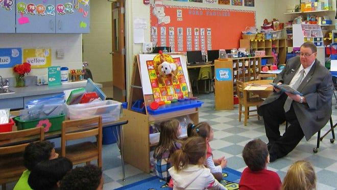 Mayor Chuck Chiarello of Buena Vista Township participated in the Read Across America program on March 3 at John C. Milanesi Elementary School.