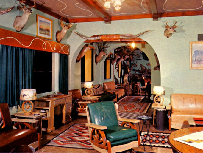 1960s view through the Buckhorn Baths lobby toward