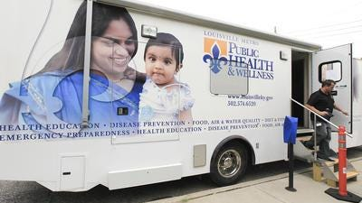 The mobile unit for the needle exchange at the Department of Public Health & Wellness.