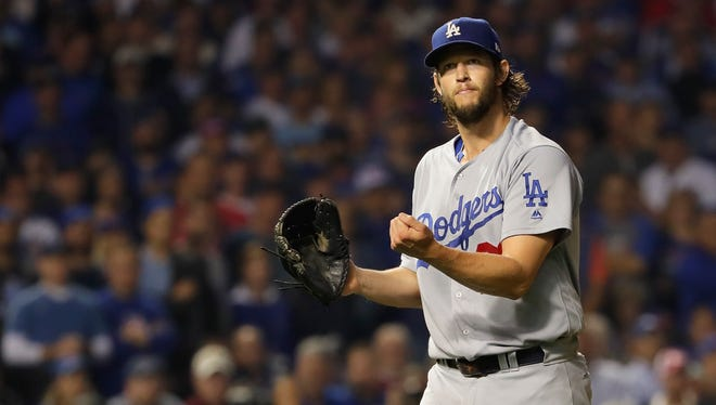 Clayton Kershaw tossed seven shutout innings in Game 2 of the NLCS.