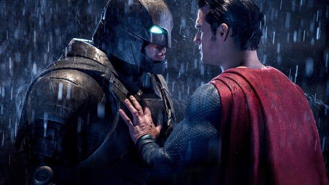 "Ben Affleck, left, and Henry Cavill star in ""Batman v Superman: Dawn of Justice."""