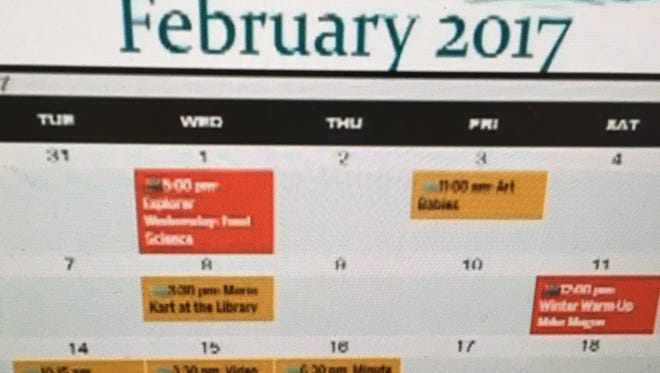"""NEWEye's """"Upcoming Events""""  calendar for Brown County stops at Feb. 28."""