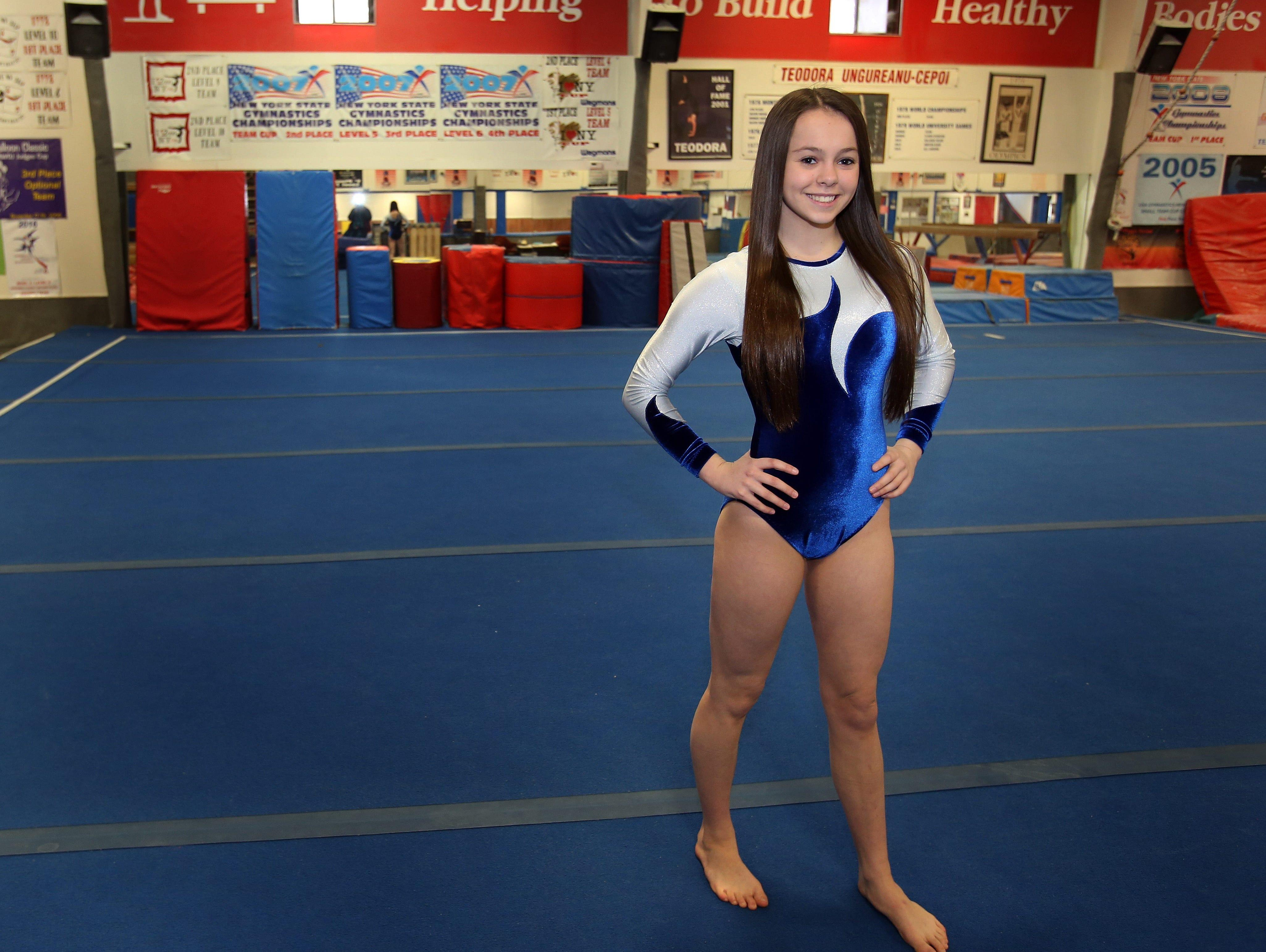 Mahopac junior Callie Johanson is the Journal News/lohud co-gymnast of the year with teammate Katherine Dorovitsine.