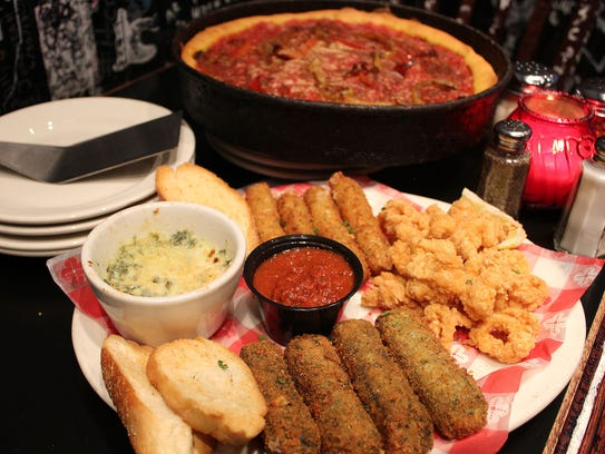 Appetizers at Gino's East.