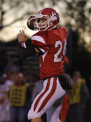 Nick Putnam, shown during a game last season, threw for a school record 358 yards during Laingsburg's win over Fulton in Week 2.