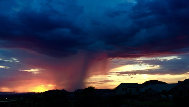 A monsoon storm drops rain over the Valley on July 20, 2017.