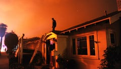 Residents share images, posts from Ventura County Fire