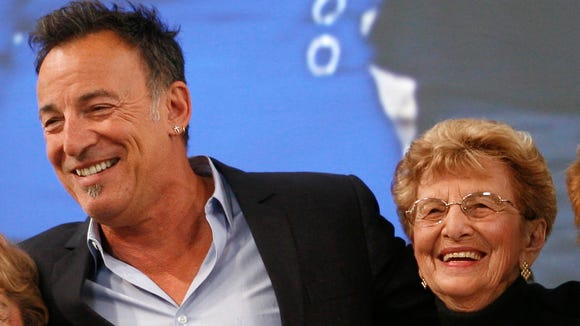 Bruce and his mother Adele in 2010.