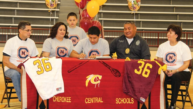 Cherokee senior Kennan Panther has signed to play college football for Carson-Newman (Tenn.).
