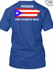 """Power for Puerto Rico"" T-shirt"