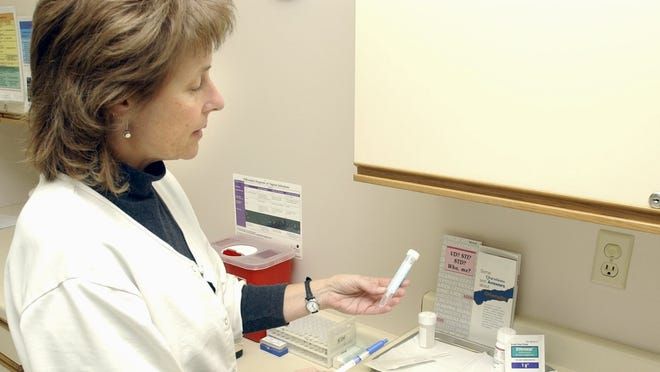 A nurse in Wisconsin checks items used for testing sexually transmitted diseases. Wicomico's stubbornly high sexually transmitted disease rates have puzzled health officials for years.