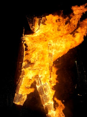 Images of Burning Man participants on the Black Rock Desert of Gerlach, Nevada on Saturday August 30, 2014.