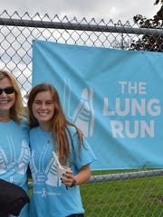 Stephanie Sills and her mom at the 2015 Lung Run.
