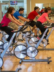 Spinning at Premier Fitness.