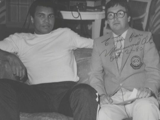 Tim Ryan (right) with boxing icon Muhammad Ali in 1980.