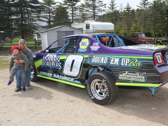Two Rivers' Brett Wenzel competes on both asphalt and dirt tracks locally, wheeling a late model on Thursday nights at WIR in Kaukauna, and this IMCA stock car Saturday nights at 141 Speedway in Francis Creek.