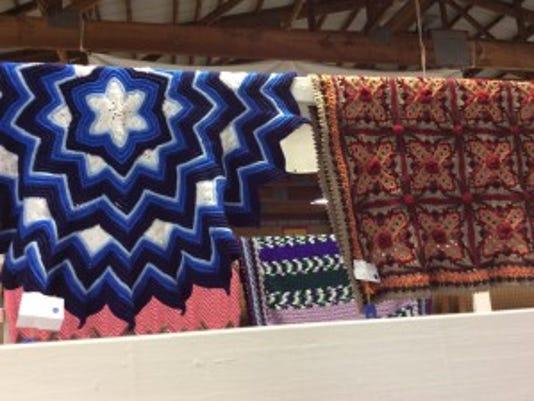 Some shawls were round, others were rectangular or triangular.