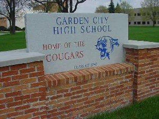 The sign for Garden City High School.