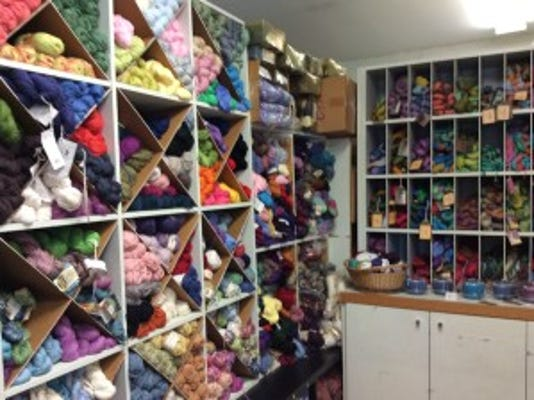 Andrea Rich invited me to tour yarn shops in Lancaster County, PA yesterday. This is a photo of Oh Susannah, a shop in Lancaster.
