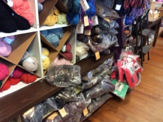All those bags of yarn on the lower shelves are Panguipulli.