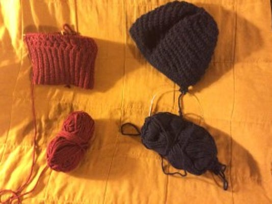 I have two more hats on the needles to donate for homeless people. I've already finished a couple other hats.