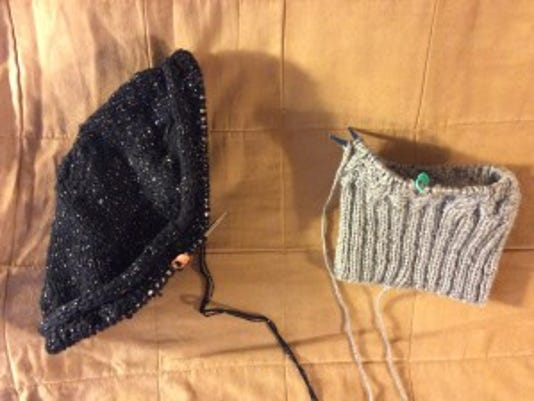 I ended up ripping out more than I'd knitted on these two hats on Christmas Day.