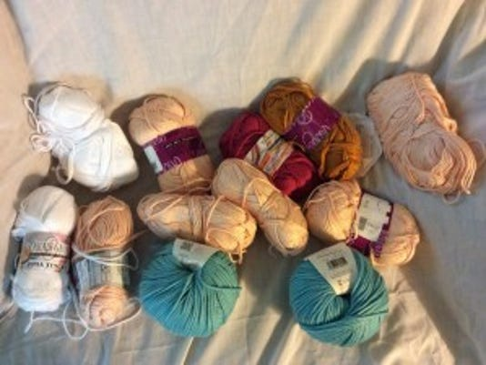 Most of this is the Pima Tencel yarn I will use for this year's chemo caps. The two green/aqua skeins will be for my own sun hat, when I get to it.
