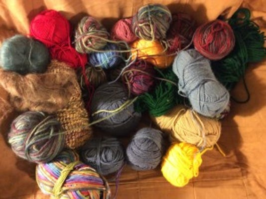 What can be better for a compulsive knitter like me than free yarn? Thanks, Arlene!