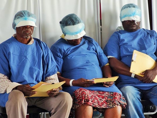 Three Swaziland patients await removal of their bandages