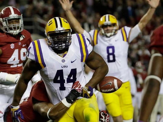 APTOPIX LSU Alabama Football