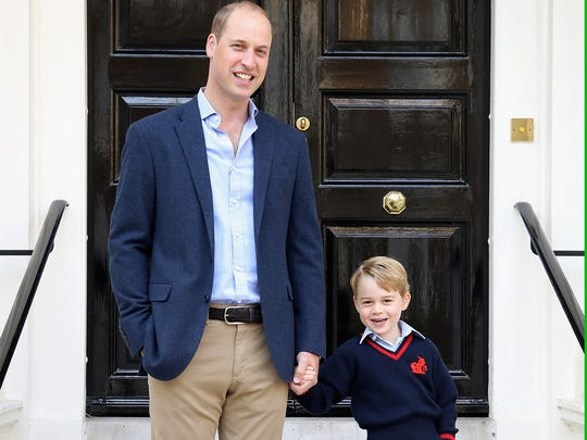 What, me worry? Prince George looked ready for anything