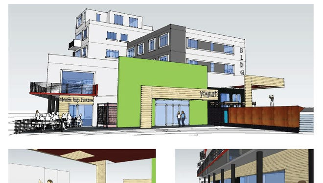 A rendering of the Truckee Lane Building in downtown Reno.