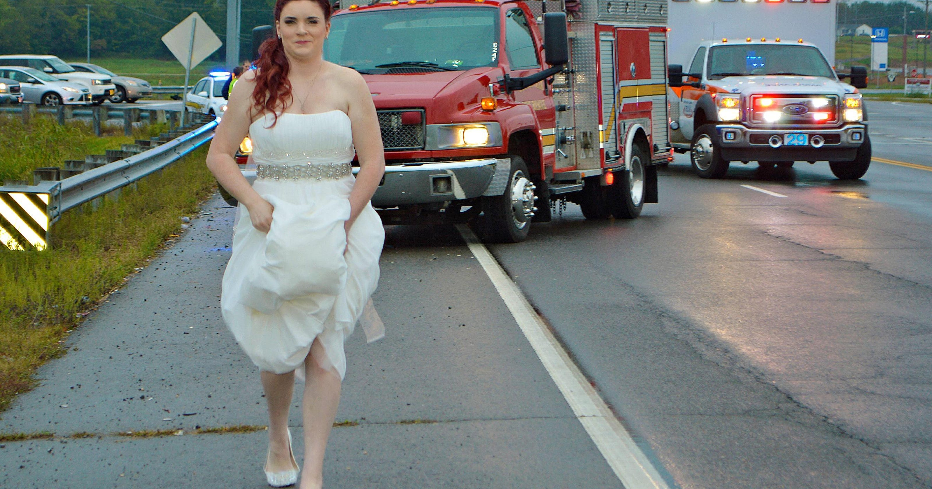 The week's odd news: Paramedic in wedding dress works crash on way