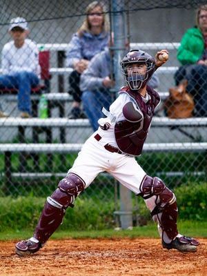 Cornersville's Luke Terry is seen during a junior varsity baseball game Wednesday, April 25, 2018 in Cornersville, Tenn. (Photo by Wade Payne, Special to the Tennessean)