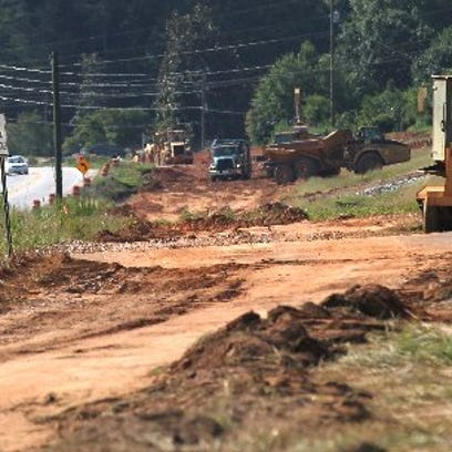 The Ga. 17 widening project was under way in Eastanollee,