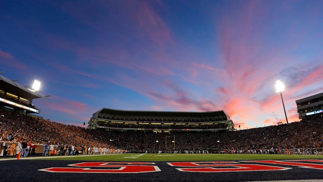 Auburn's game against Ole Miss will be played under the lights at Vaught-Hemingway Stadium.