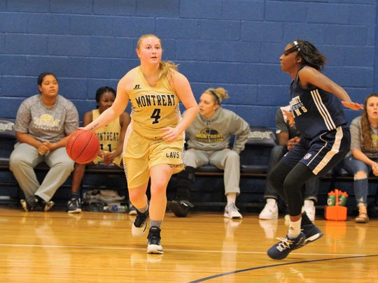 Montreat College senior and Swannanoa Valley native Hannah Calloway handles the ball in an Oct. 28 scrimmage against Bob Jones University.