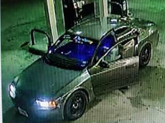 A security camera shows the car the suspect fled in.