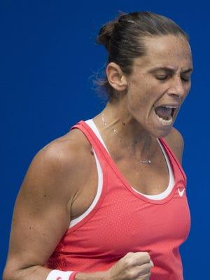 Roberta Vinci beat Karolina Pliskova 7-6 (2), 6-3 to advance to the semifinals of the Wuhan Open.