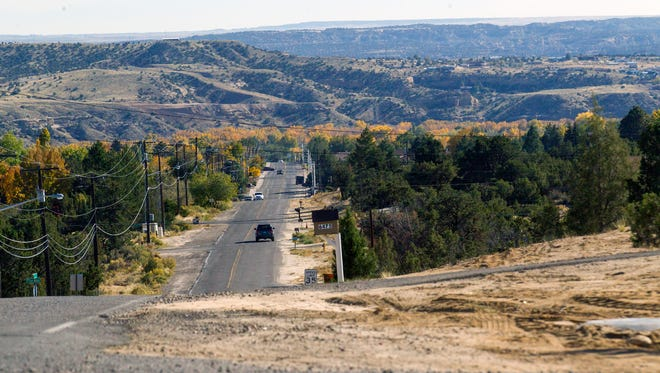 Foothills Drive is pictured from Rinconada Street Tuesday in Farmington. A project to make the area more pedestrian and bike friendly soon will get underway.