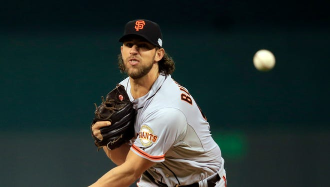 Madison Bumgarner led the Giants in Game 1 of the World Series.