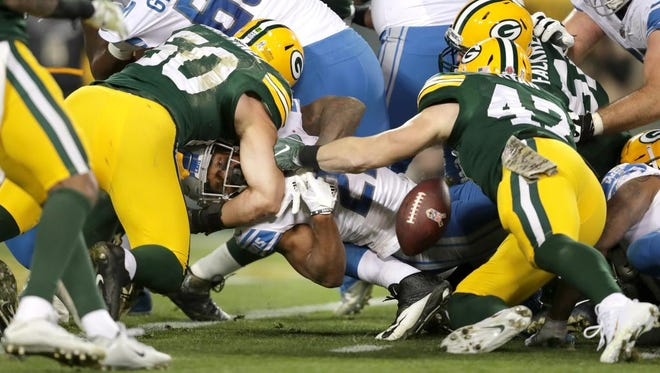 Lions running back Ameer Abdullah struggled against the Packers on Monday night.
