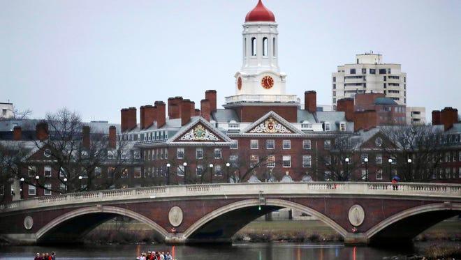 Harvard College campus in Cambridge, Mass.