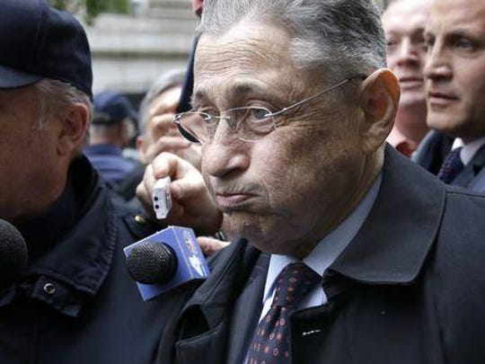 Former Assembly Speaker Sheldon Silver leaves court May 3 in New York. Silver was sentenced to 12 years in prison.