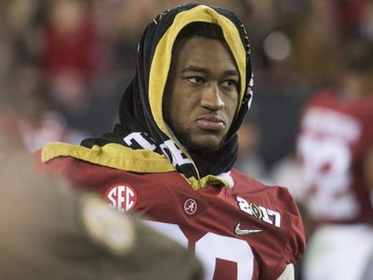 Shaun Dion Hamilton missed the College Football Playoff title game Alabama lost, 35-31, against Clemson in Tampa.
